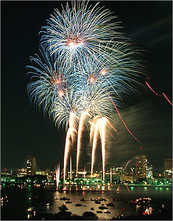 1997 fireworks on the charles