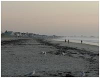Ogunquit beach just before sunrise