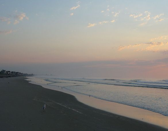 dawn on Misty beach Ogunquit