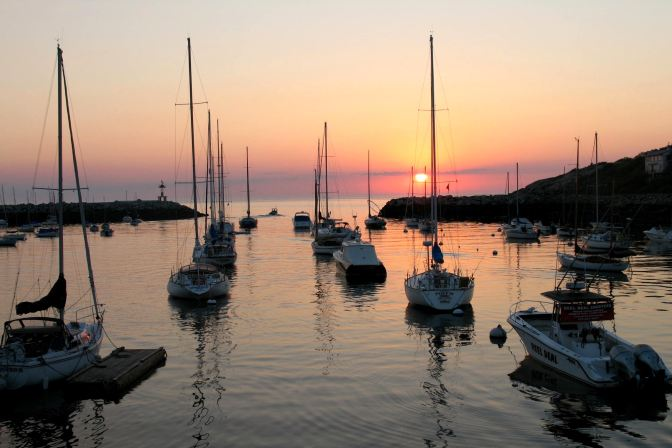 First light of day in Rockport