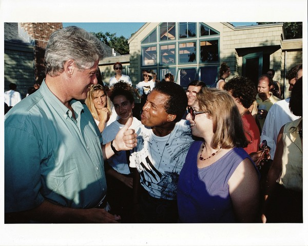 Garry and I at President Clinton's party on Martha's Vineyard