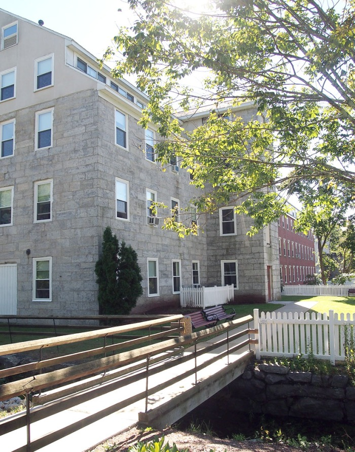 Renovated into elderly and affordable housing, the old Crown and Eagle mill in Uxbridge is beautiful today.