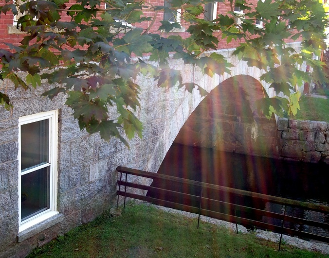 Sun streaks by Crown and Eagle central canal