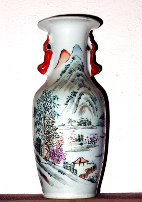 Qianlong (1736-1795) porcelain vase. Broken in crash.