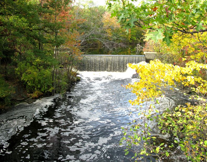 Blackstone River Falls-Autumn-2008