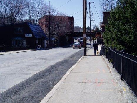 Garry and Divot Walking downtown