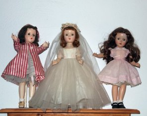 Three Margaret O'Brien dolls - Madame Alexander
