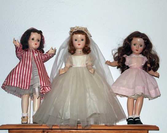 Three Margaret O'Brien dolls by Madame Alexander