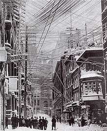 New York during the White Hurricane of March 11, 1888