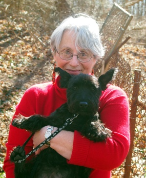 Bonnie and me on a walk in the woods ...