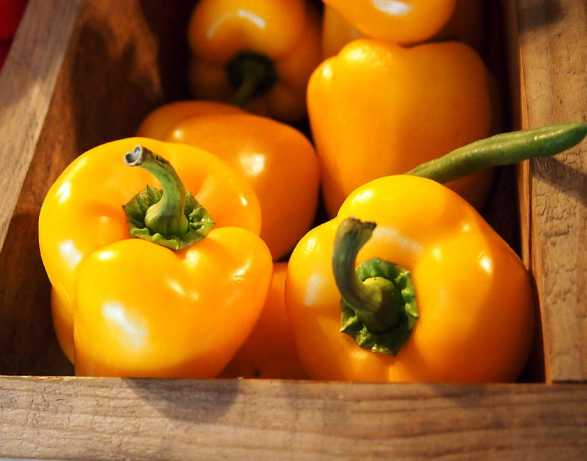 Orange peppers, photo: Marilyn Armstrong