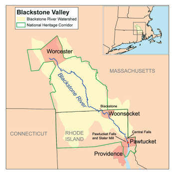 The Blackstone Valley watershed.