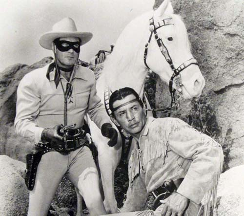 Jay Silverheels and Clayton Moore