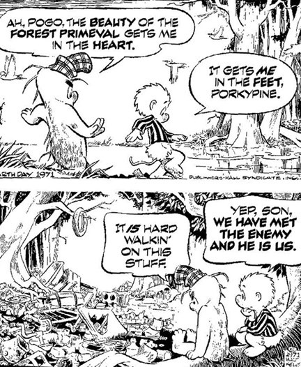 Pogo - Earth Day 1971 poster - Walt Kelly