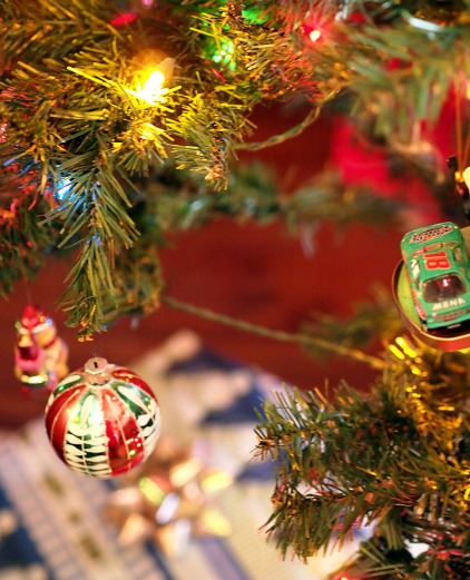 Christmas: Under the tree.