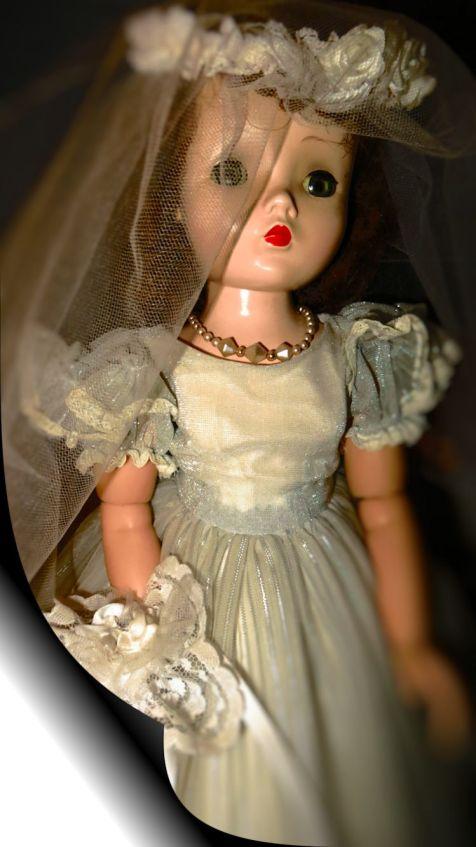 Cissy as a bride