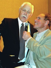 "Derek ""Turk"" Sanderson with Bob Lobel"