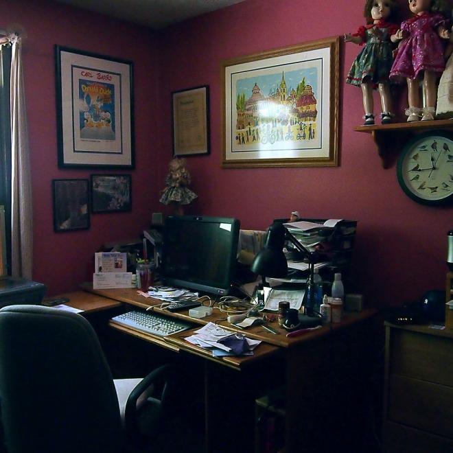 My office by window light