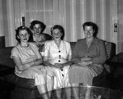 From right to left: My mother (Dorothy), Aunt Pearl, Aunt Kate, and Aunt Yetta
