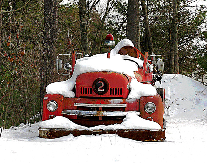 Old Number Two in the snow