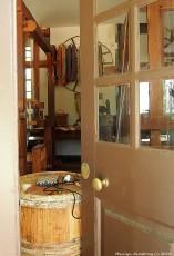 A peek inside through a slightly opened door