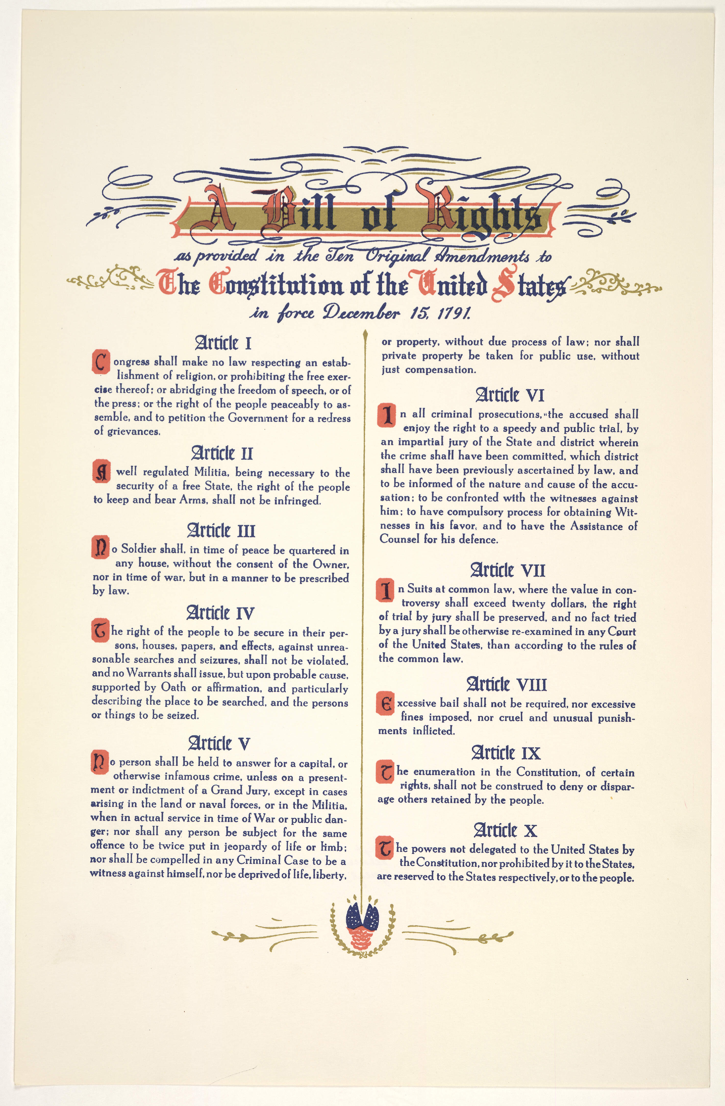 Bill of Rights | SERENDIPITY