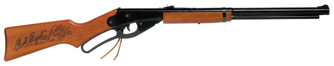 My personal weapon: a Red Ryder BB rifle