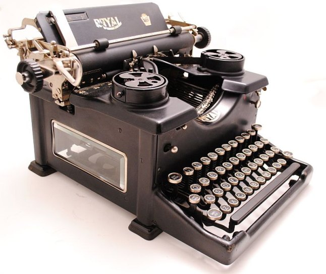 typewriter with glass sides -2