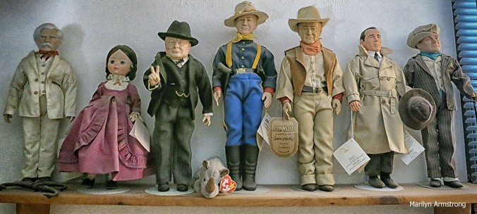 The doll's shelf of fame.