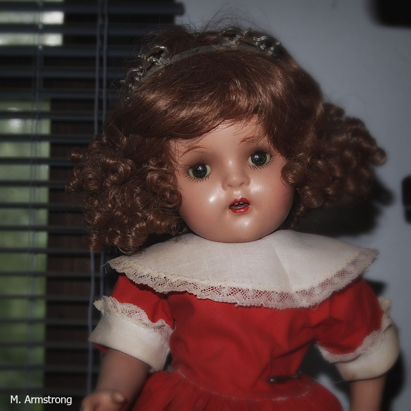 From the early 1940s, an early composition Madame Alexander doll, the child who became the current queen of England.