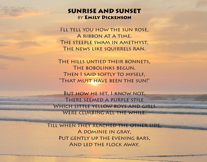 96-Sunrise and Sunset-EmilyDickenson