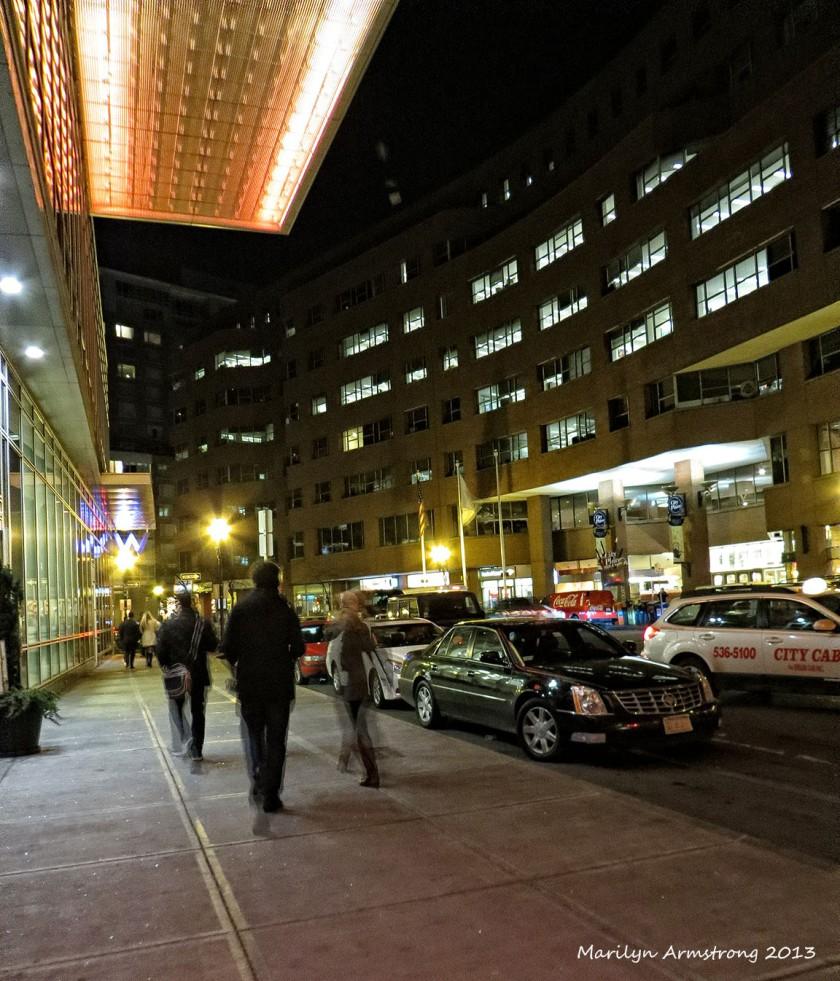 Downtown city night