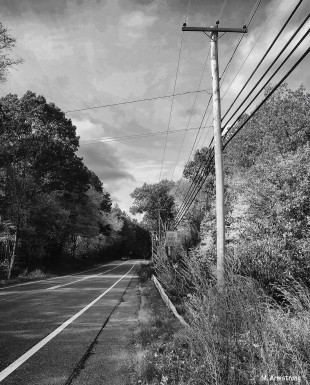 Lines in and around the road