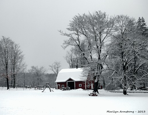 Red Barn White Snow