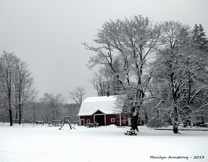Red Barn White Snow