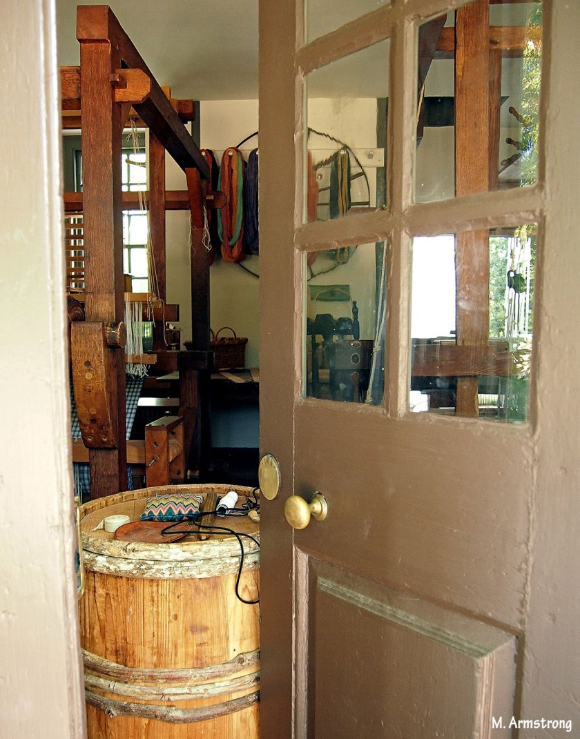 Yarn Shoppe back door