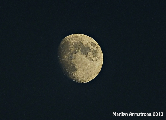 The waning moon, but it really IS round!