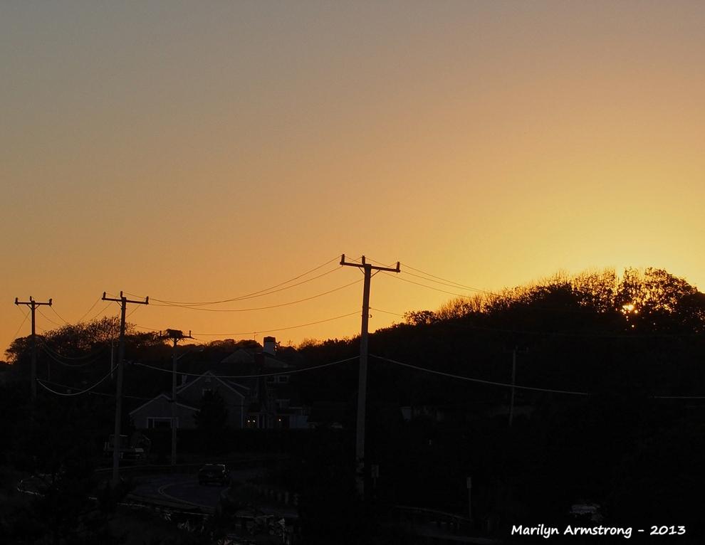 Sunset Barnstable autumn