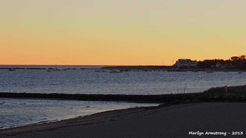 Sunset Barnstable beach