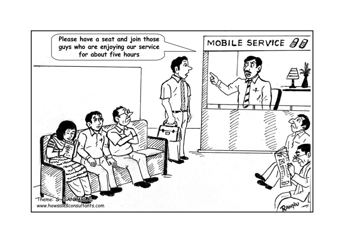 Customer Service waiting