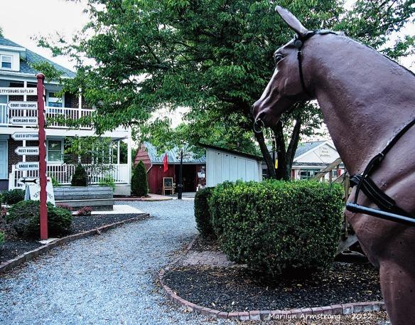 Gettysburg faux horse