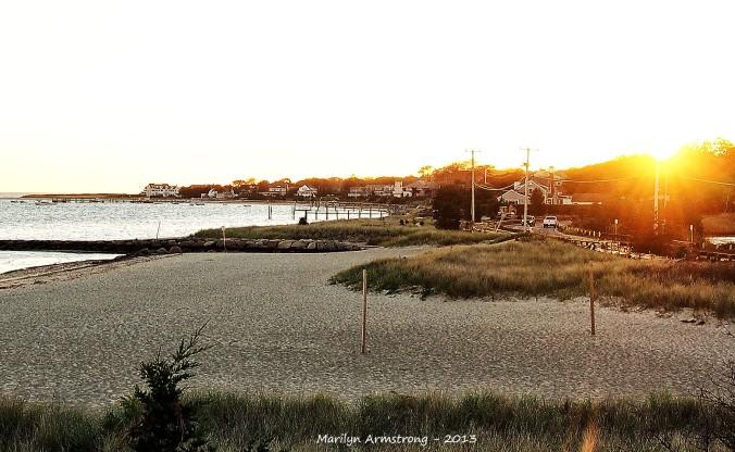 Barnstable beach sunset