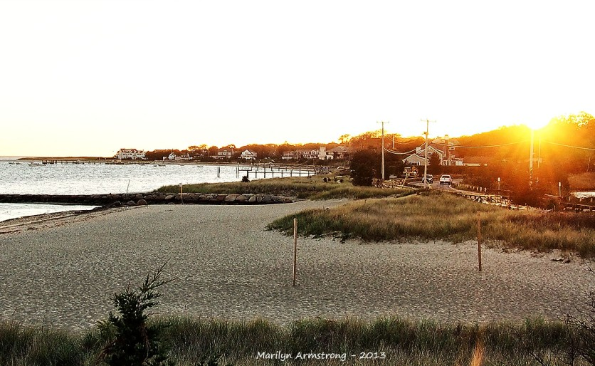 Barnstable beach sunset