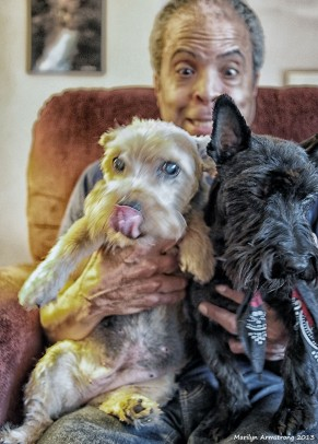 Garry silly with dogs 30