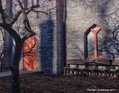 Amherst stone church