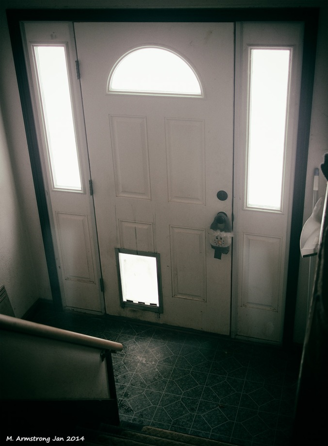 white light in the hallway
