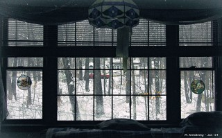 My window snowy day