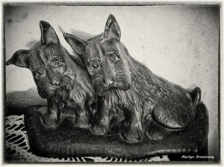 Cast iron Scotties (1880ish?)