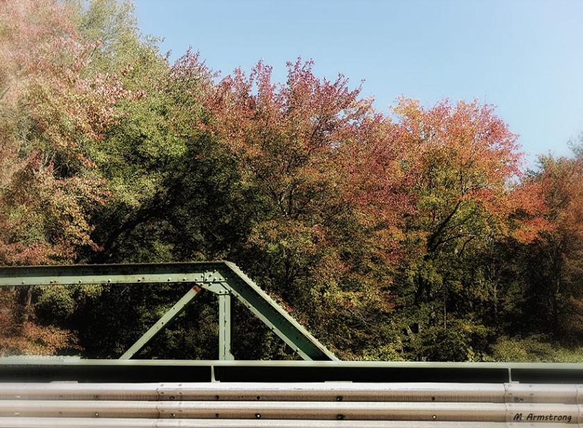 Bridge over blackstone autumn