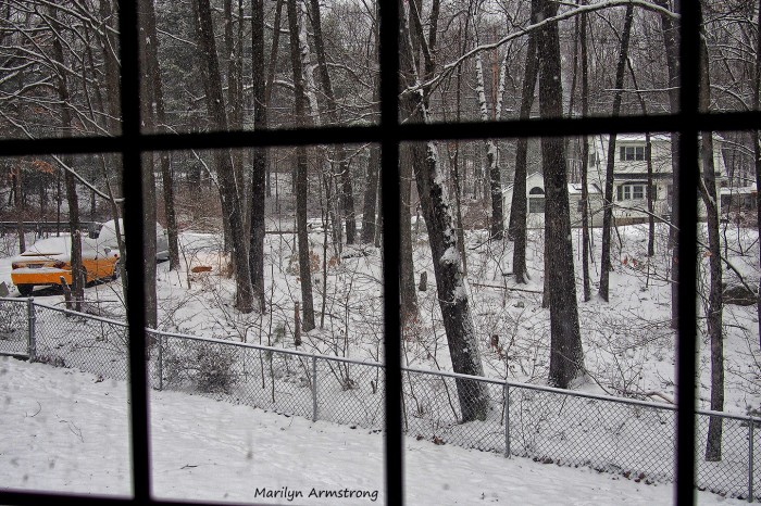 window and snow